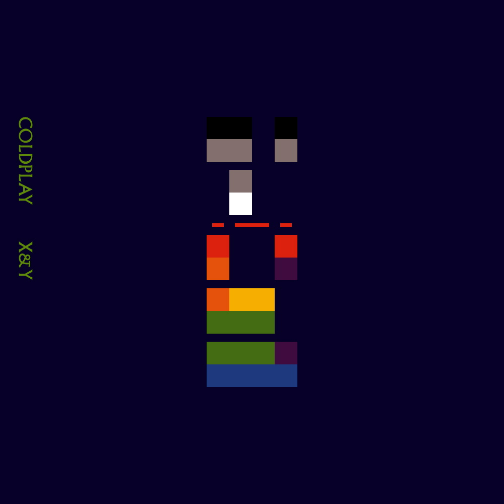 X and y album cover x  X And Y Album Cover