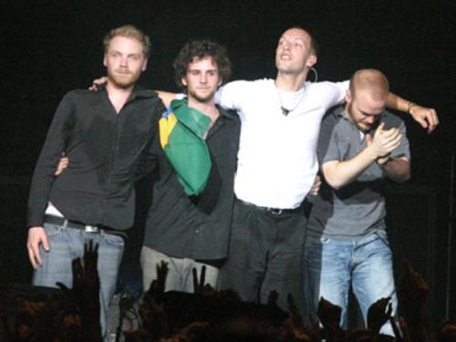 Coldplay dando o recado: até breve, Brasil
