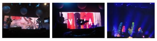 Imagens congeladas no telão de alta definição do palco principal