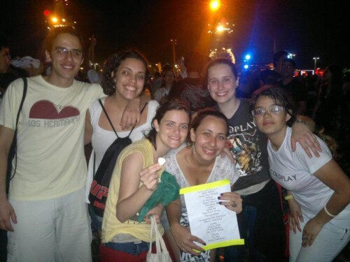 After the Rock in Rio concert with the setlist