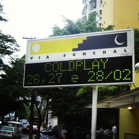 Via Funchal recebe Coldplay